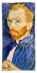 Hand Towel featuring the photograph Van Gogh On Van Gogh by Cora Wandel