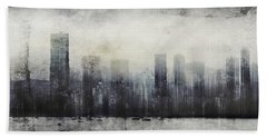 Vancouver Skyline Abstract 1 Bath Towel