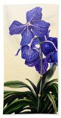 Vanda Sausai Blue Orchid Hand Towel