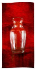 Hand Towel featuring the photograph Vase En Rouge by Aaron Berg