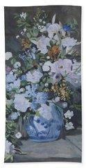 Vase Of Flowers - Reproduction Bath Towel