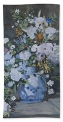 Vase Of Flowers - Reproduction Hand Towel