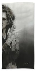 Eddie Vedder - ' Vedder Iv ' Hand Towel by Christian Chapman Art