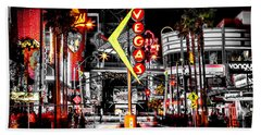 Vegas Nights Bath Towel by Az Jackson