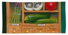 Vegetable Shelf Hand Towel by Brian James