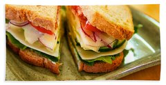 Veggie Sandwich Bath Towel