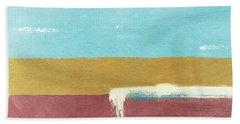 Velvet Horizon- Abstract Landscape Bath Towel