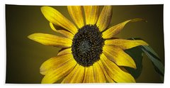 Velvet Queen Sunflower Hand Towel