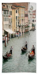 Hand Towel featuring the photograph Venice by Silvia Bruno