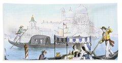 Venetian Gondola, From Vedute Dei Bath Towel