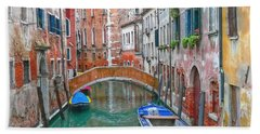 Bath Towel featuring the photograph Venetian Idyll by Hanny Heim