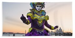 Venice Carnival Iv Bath Towel