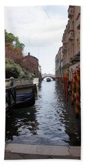 Venice Dock Hand Towel by Debi Demetrion