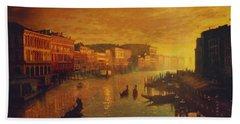Venice From The Rialto Bridge Bath Towel