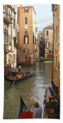 Venice Gondolas Hand Towel