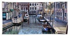 Venice Italy Iv Hand Towel by Tom Prendergast