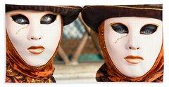 Venice Masks - Carnival. Bath Towel
