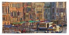 Venice Palazzi At Sundown Hand Towel