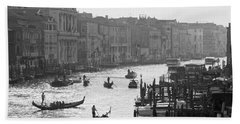 Venice Grand Canal Hand Towel by Silvia Bruno