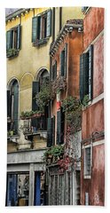 Windows In Venice  Hand Towel