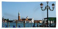 Venice View On Basilica Di San Giorgio Maggiore Bath Towel