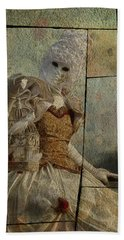 Hand Towel featuring the photograph Venitian Carnival-bird In A Cage by Barbara Orenya