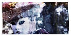Hand Towel featuring the photograph Venitian Carnival - I Love Mystery by Barbara Orenya