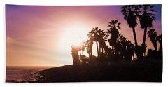 Ventura Beach Sunset Hand Towel