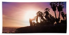 Ventura Beach Sunset Bath Towel