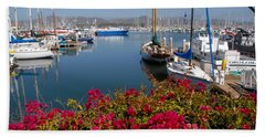 Ventura Harbor Bath Towel by Lynn Bauer