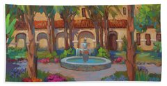 Ventura Mission Hand Towel by Diane McClary