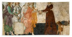 Venus And The Three Graces Offering Presents To A Young Girl Bath Towel