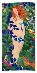 Venus At Exotic Garden Hand Towel