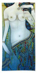 Venus With Doves Bath Towel
