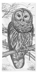 Vermont Barred Owl Bath Towel