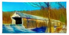 Vermont Covered Bridge Bath Towel