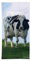Vermont Dairy Cow Bath Towel by Eunice Miller