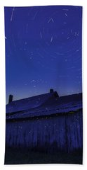 Vermont Twilight Blue Hour Farmhouse Startrails Fireflies Bath Towel