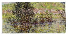 Vetheuil, View From Lavacourt, 1879 Oil On Canvas Bath Towel
