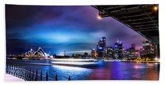 Vibrant Sydney Harbour Hand Towel