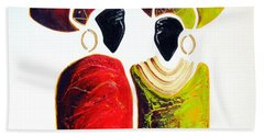Vibrant Zulu Ladies - Original Artwork Bath Towel