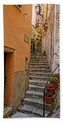 Vicolo Della Valle Riomaggiore Italy Dsc02537  Bath Towel by Greg Kluempers