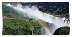 Rainbow Over Victoria Falls  Bath Towel