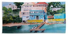 Vieques Puerto Rico Hand Towel by Luis F Rodriguez