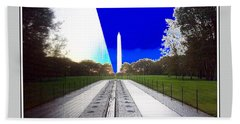 Viet Nam Memorial And Obelisk Bath Towel