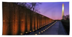 Vietnam Veterans Memorial At Sunset Hand Towel