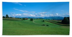 View Along Rural Hillside, Zurich Bath Towel