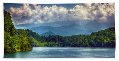 View From The Great Smoky Mountains Railroad Bath Towel