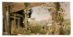 View From The Rustic Seat Shrublands Hand Towel