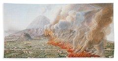 View Of An Eruption Of Mount Vesuvius Bath Towel